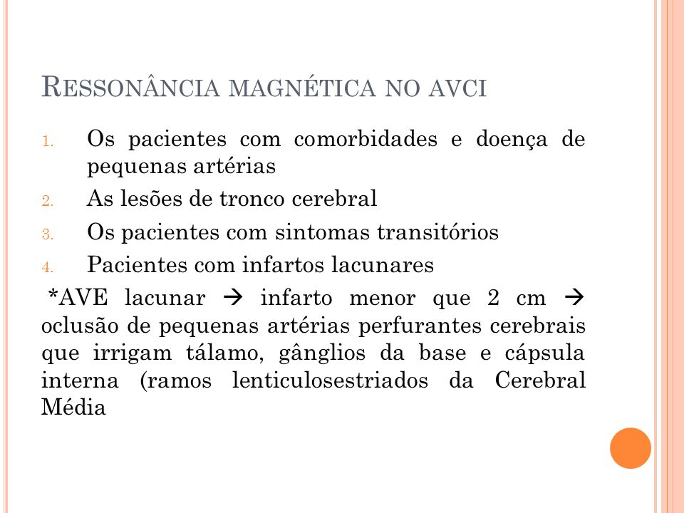 Ressonância magnética no avci