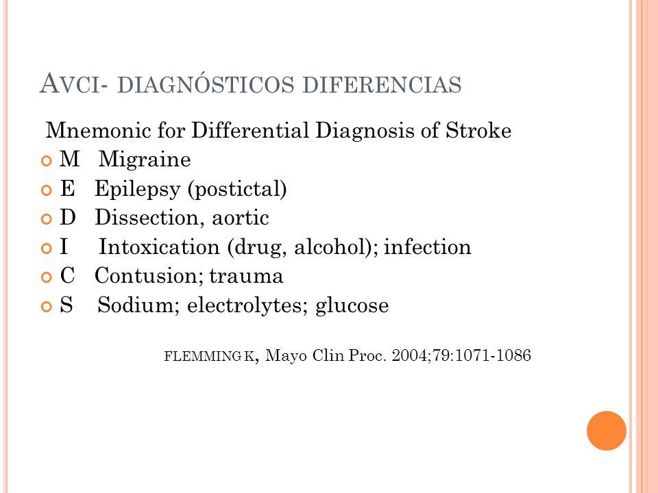 Avci- diagnósticos diferencias
