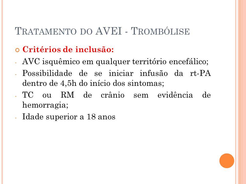 Tratamento do AVEI - Trombólise