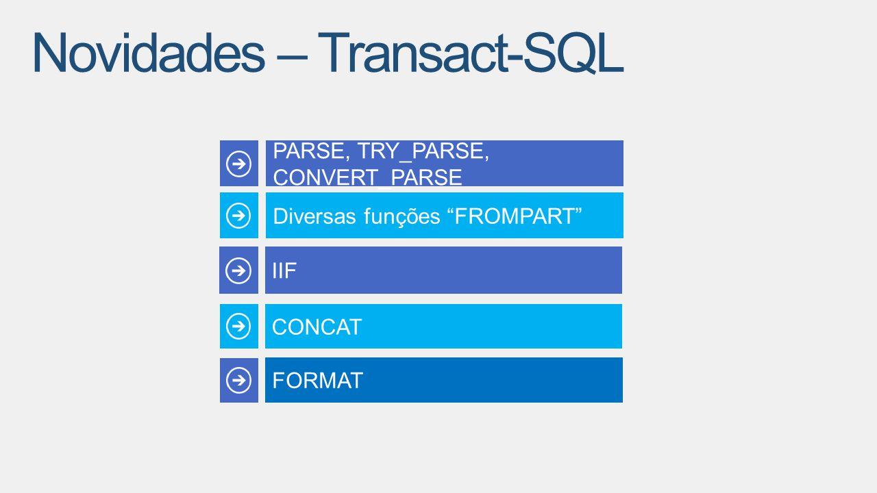 Novidades – Transact-SQL