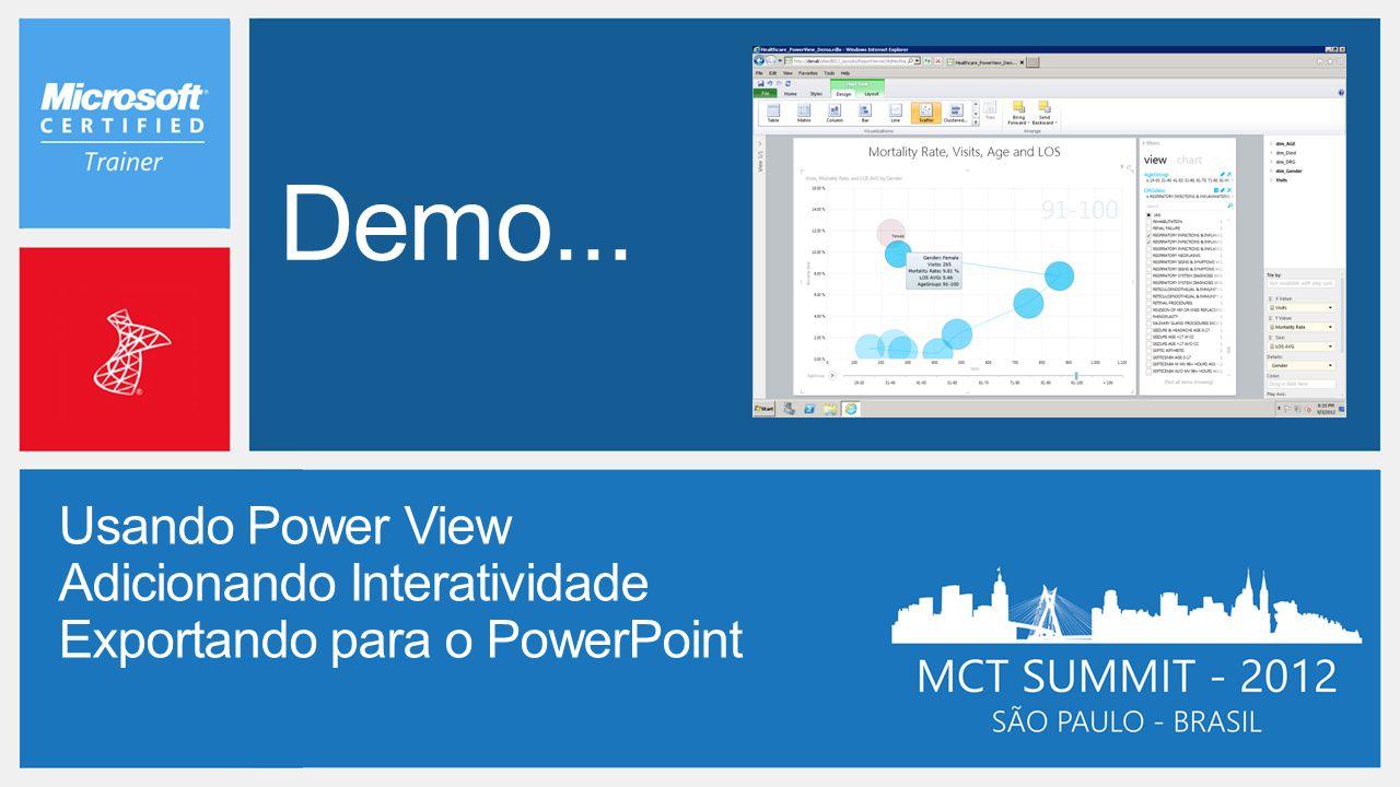 Demo... Usando Power View Adicionando Interatividade