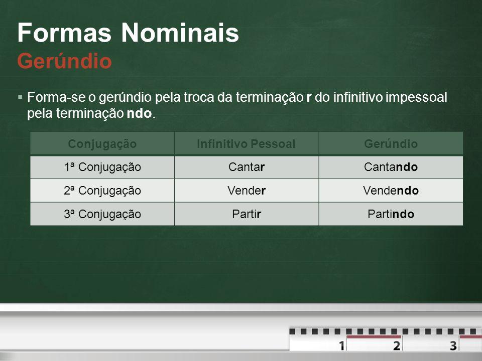 Formas Nominais Gerúndio