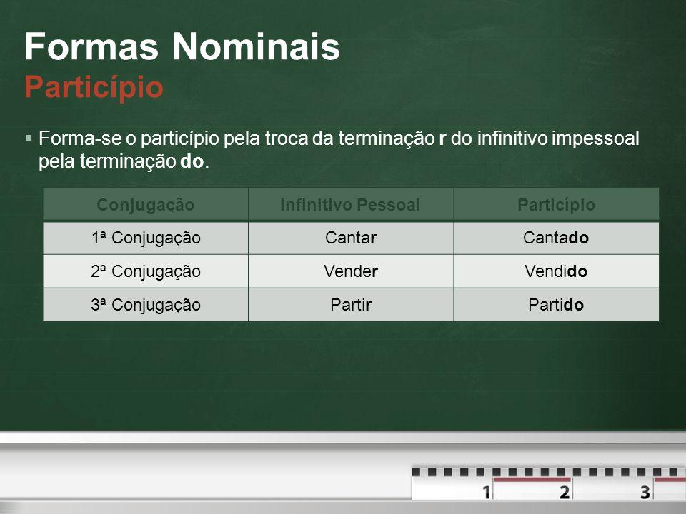 Formas Nominais Particípio