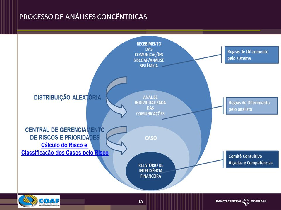 PROCESSO DE ANÁLISES CONCÊNTRICAS