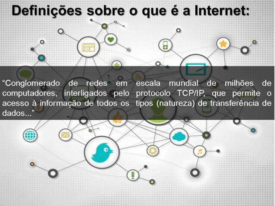 Definições sobre o que é a Internet:
