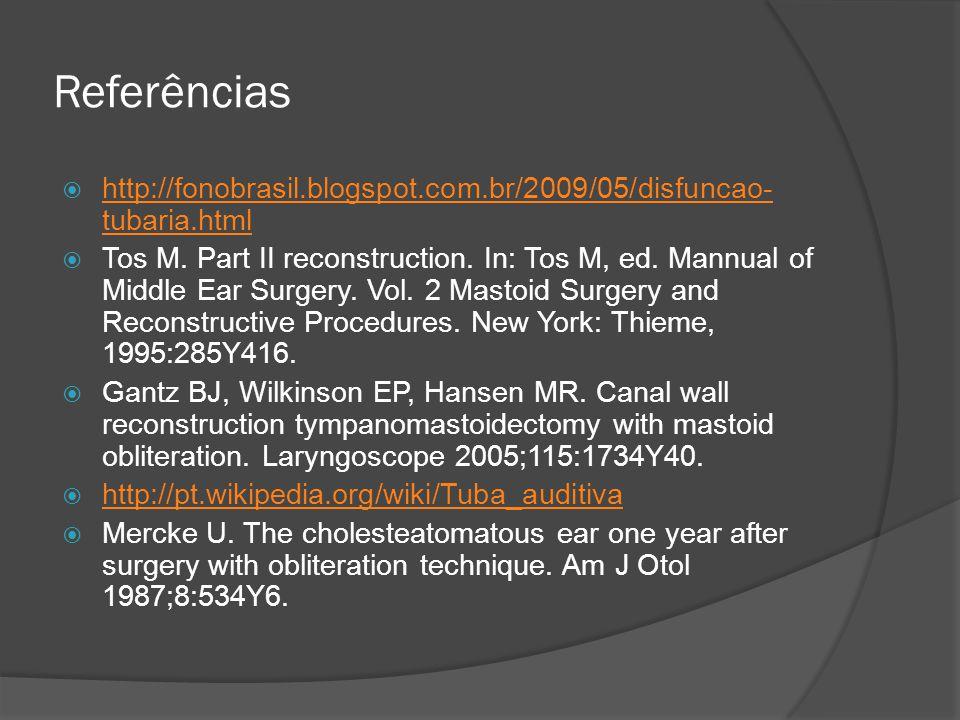 Referências http://fonobrasil.blogspot.com.br/2009/05/disfuncao-tubaria.html.