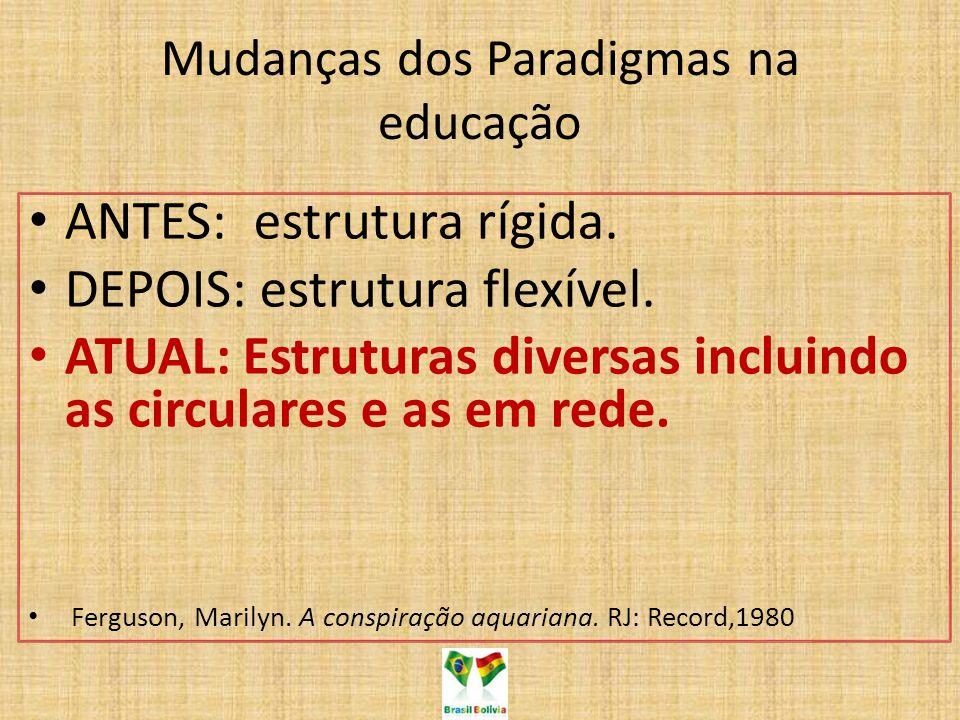 Mudanças dos Paradigmas na educação
