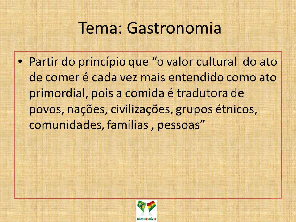Tema: Gastronomia