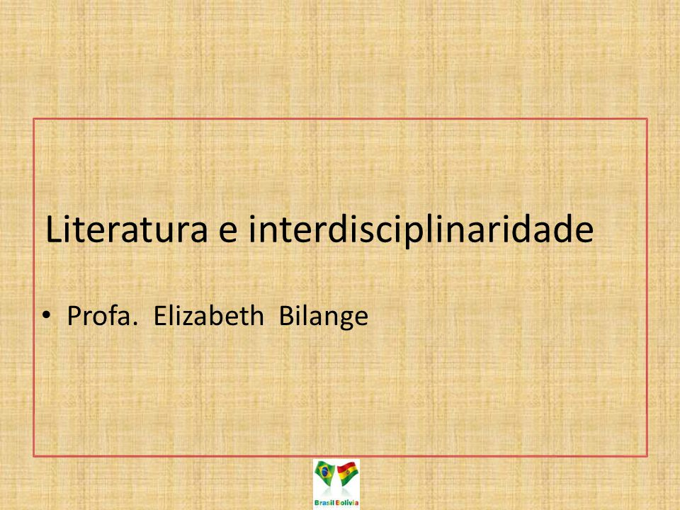 Literatura e interdisciplinaridade
