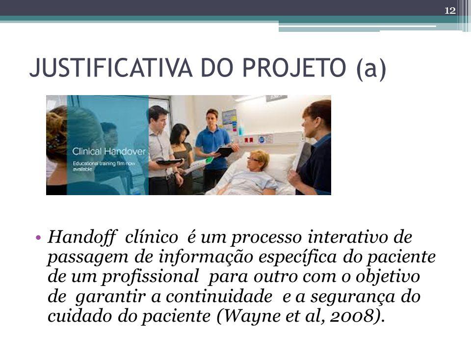 JUSTIFICATIVA DO PROJETO (a)
