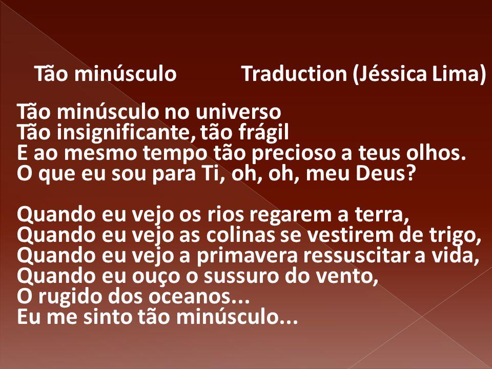 Tão minúsculo Traduction (Jéssica Lima)