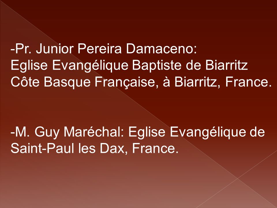 Pr. Junior Pereira Damaceno: