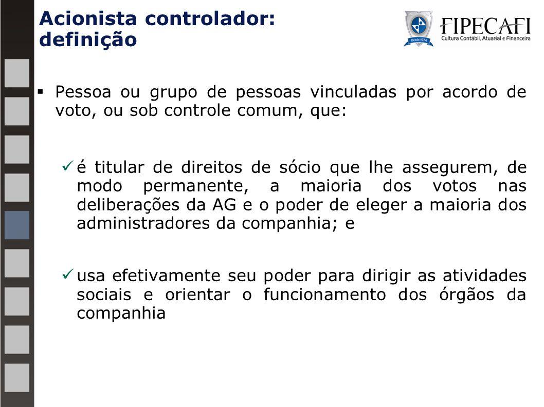 Acionista controlador: definição