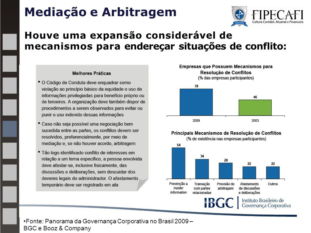 Mediação e Arbitragem Houve uma expansão considerável de mecanismos para endereçar situações de conflito:
