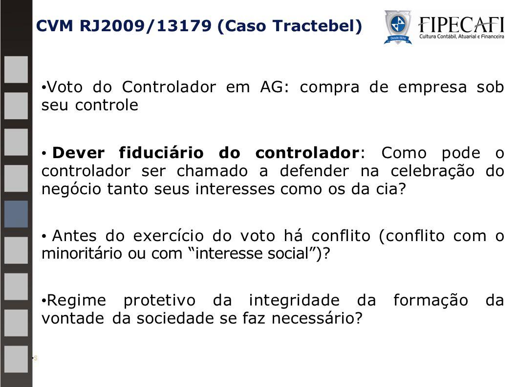 CVM RJ2009/13179 (Caso Tractebel)