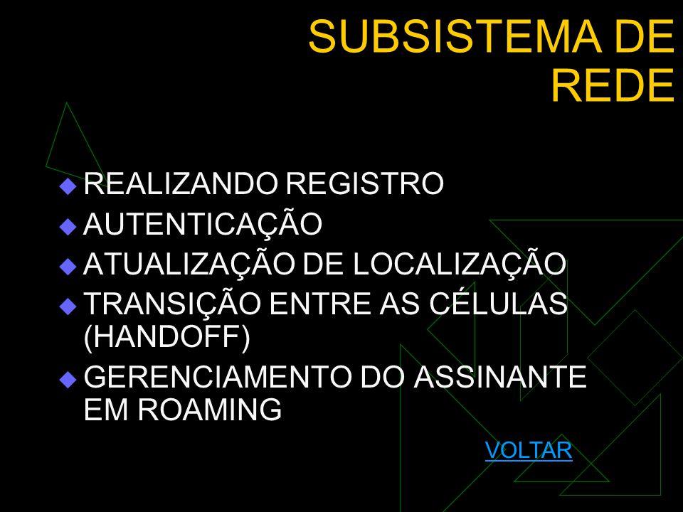 SUBSISTEMA DE REDE REALIZANDO REGISTRO AUTENTICAÇÃO