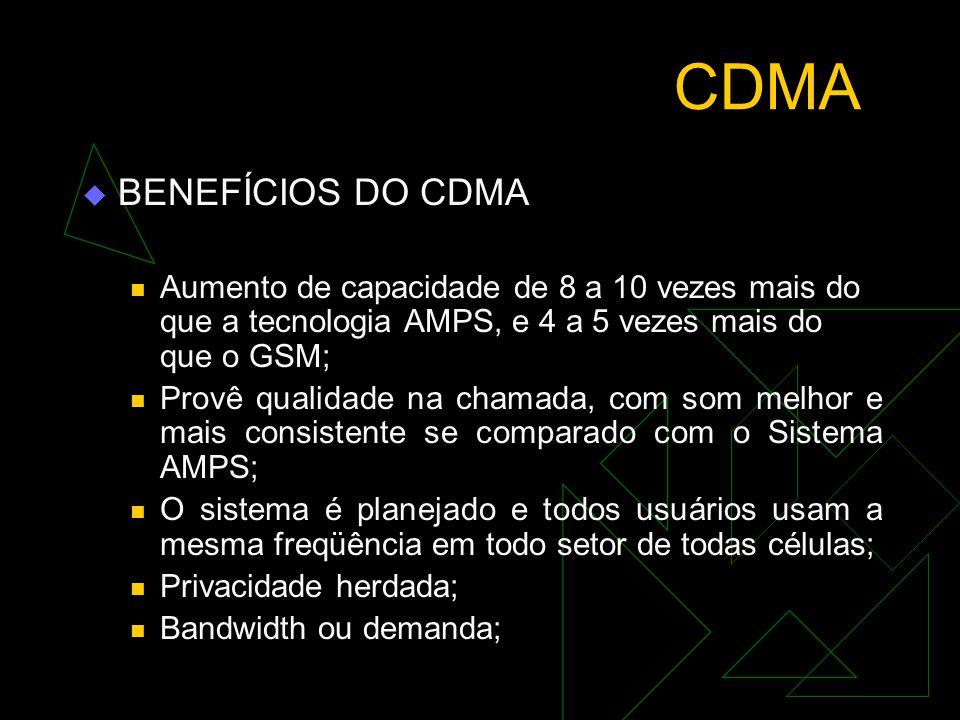 CDMA BENEFÍCIOS DO CDMA