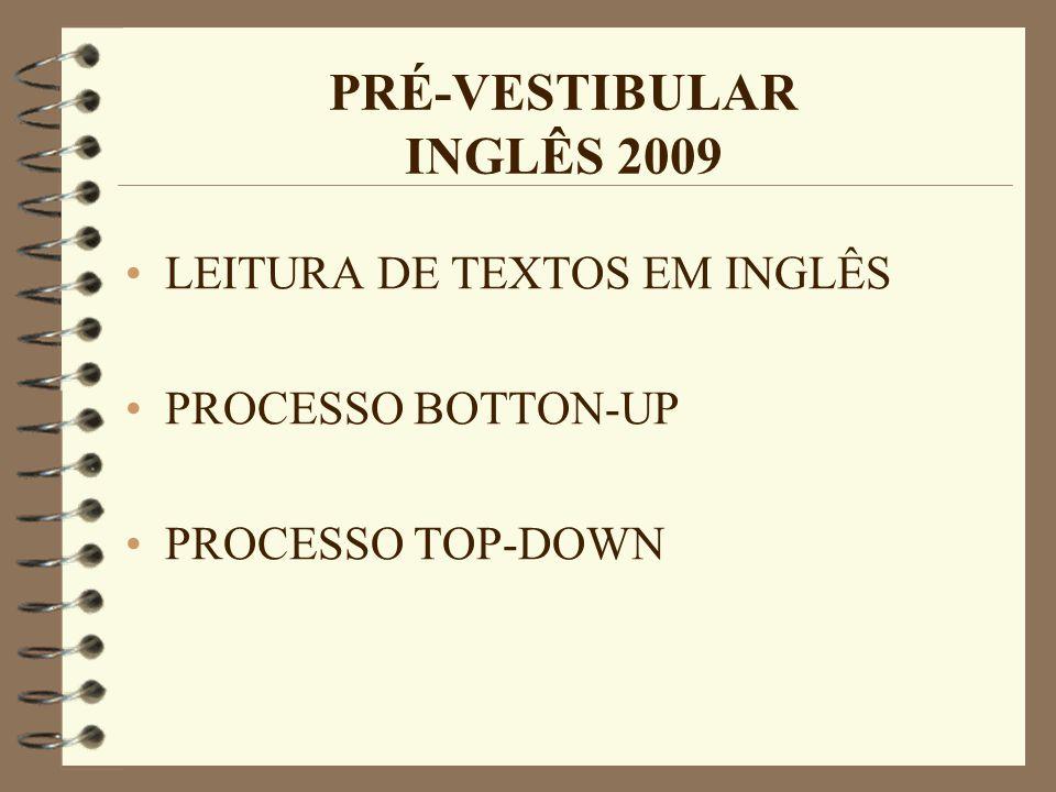 PRÉ-VESTIBULAR INGLÊS 2009