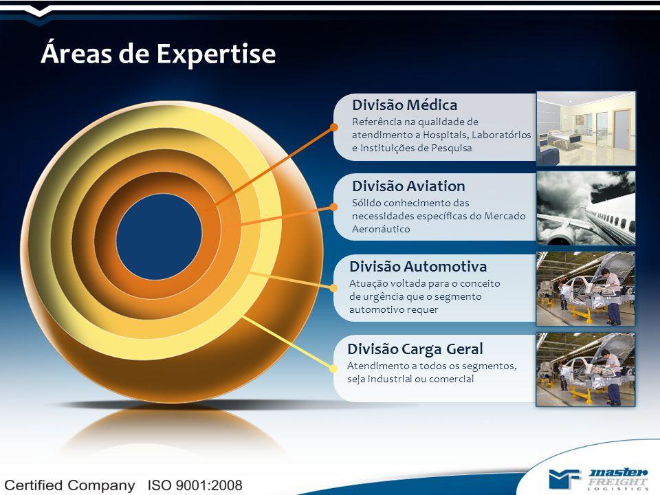 Áreas de Expertise Divisão Médica Referência na qualidade de atendimento a Hospitais, Laboratórios e Instituições de Pesquisa.
