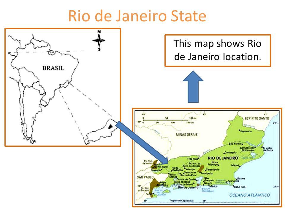 This map shows Rio de Janeiro location.