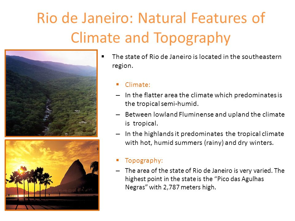 Rio de Janeiro: Natural Features of Climate and Topography