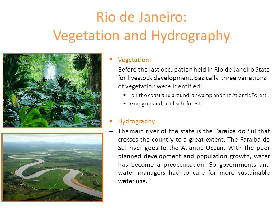 Rio de Janeiro: Vegetation and Hydrography