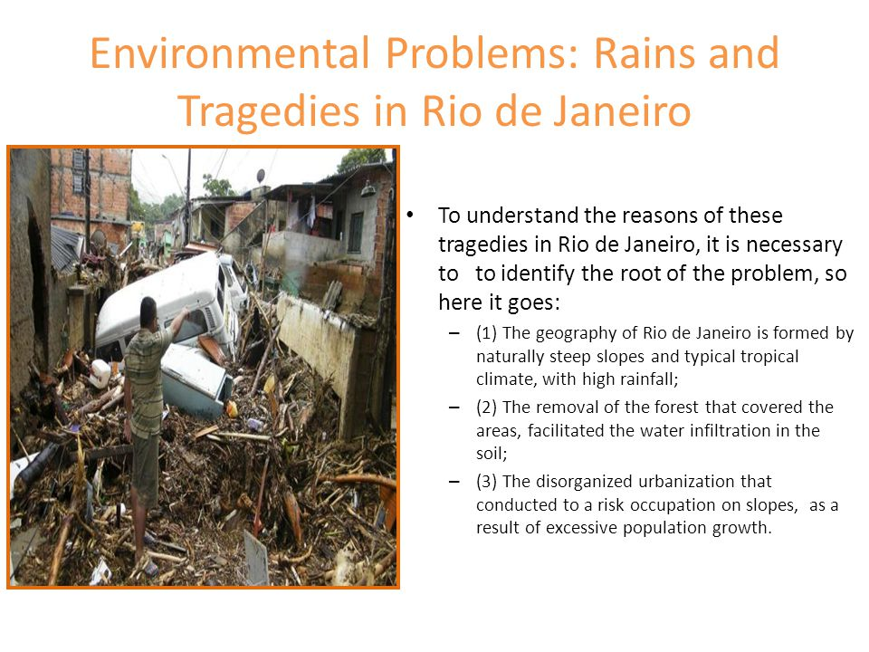 Environmental Problems: Rains and Tragedies in Rio de Janeiro