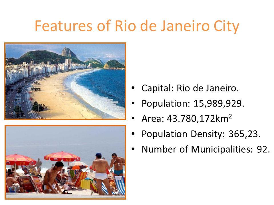 Features of Rio de Janeiro City