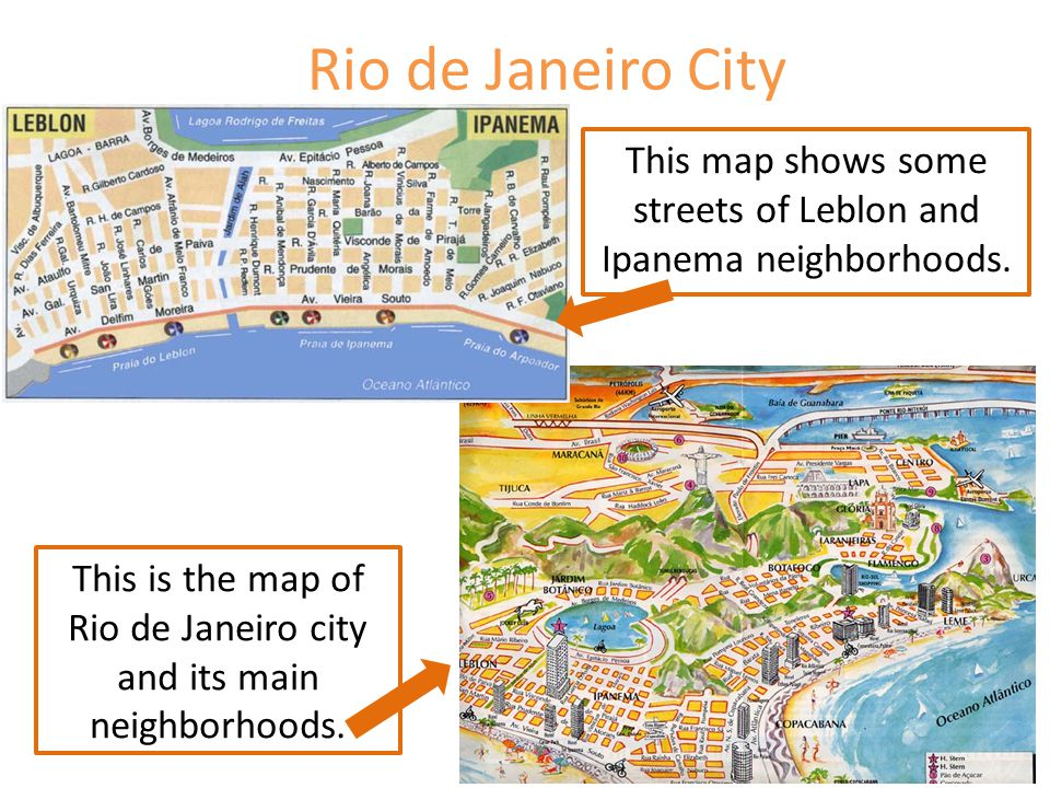 This map shows some streets of Leblon and Ipanema neighborhoods.