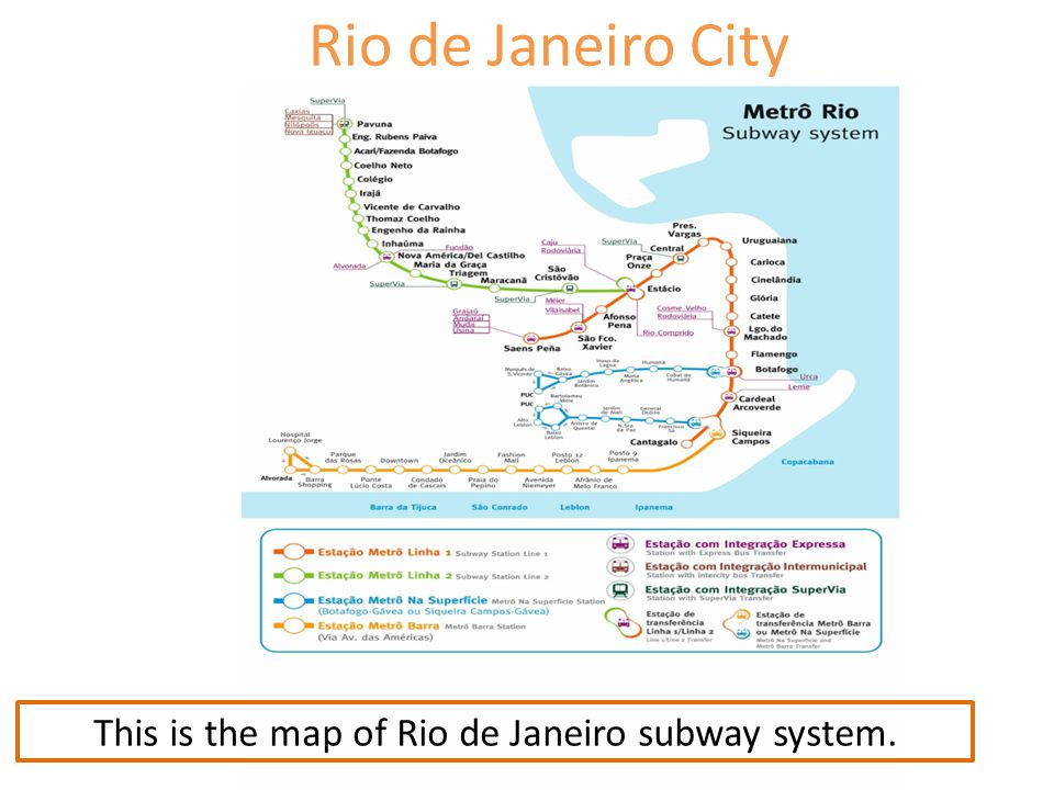 This is the map of Rio de Janeiro subway system.