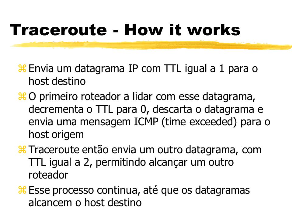 Traceroute - How it works