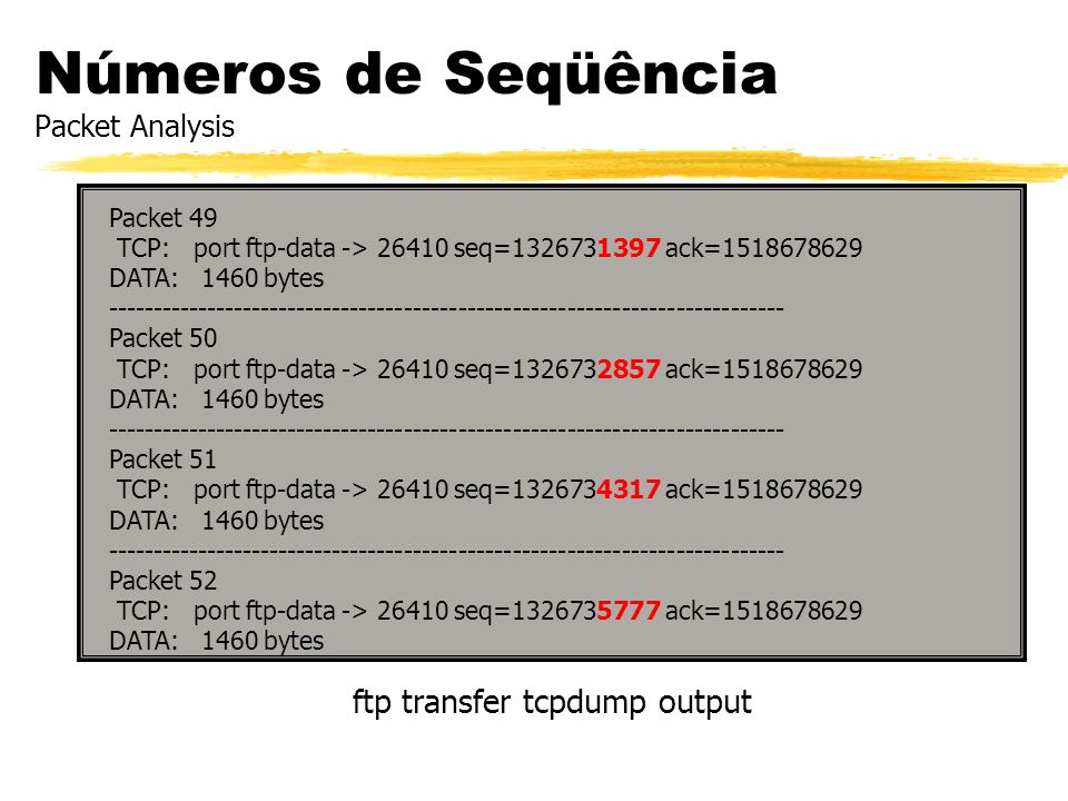 Números de Seqüência Packet Analysis