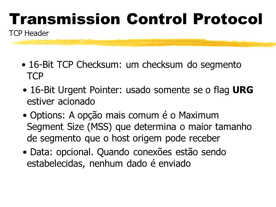 Transmission Control Protocol TCP Header