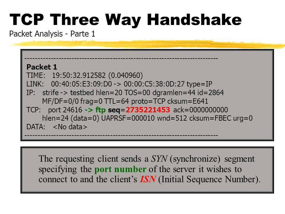 TCP Three Way Handshake Packet Analysis - Parte 1