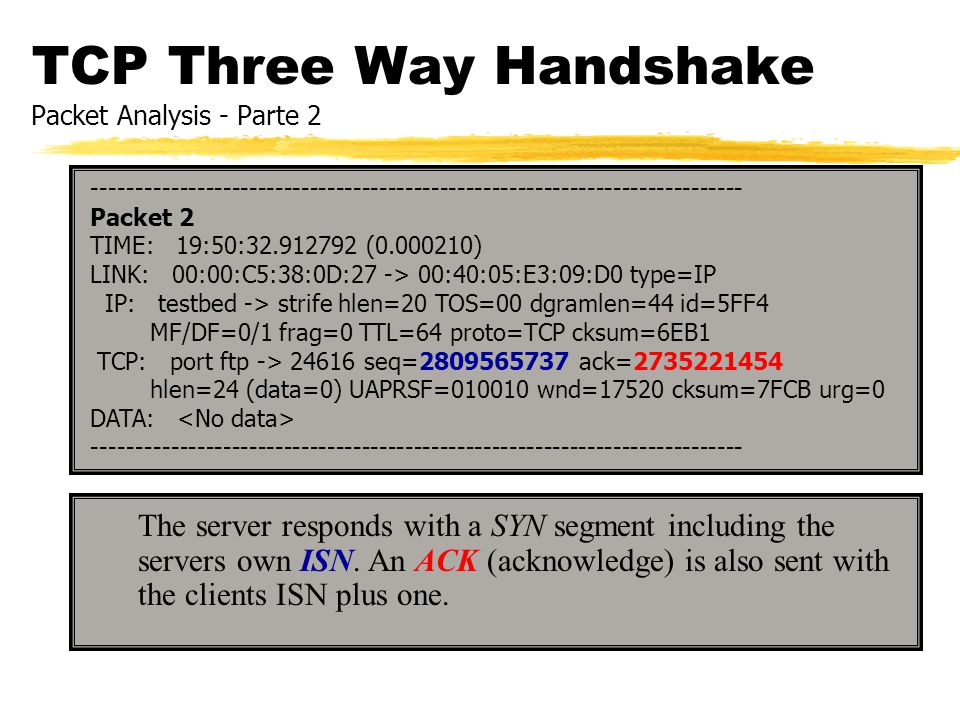 TCP Three Way Handshake Packet Analysis - Parte 2
