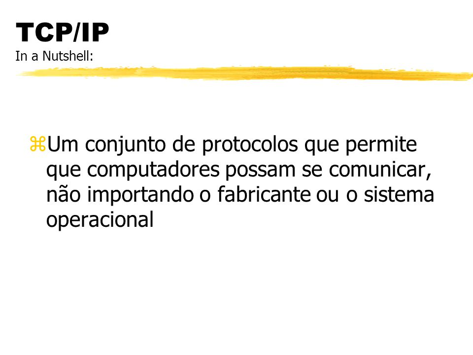 TCP/IP In a Nutshell: