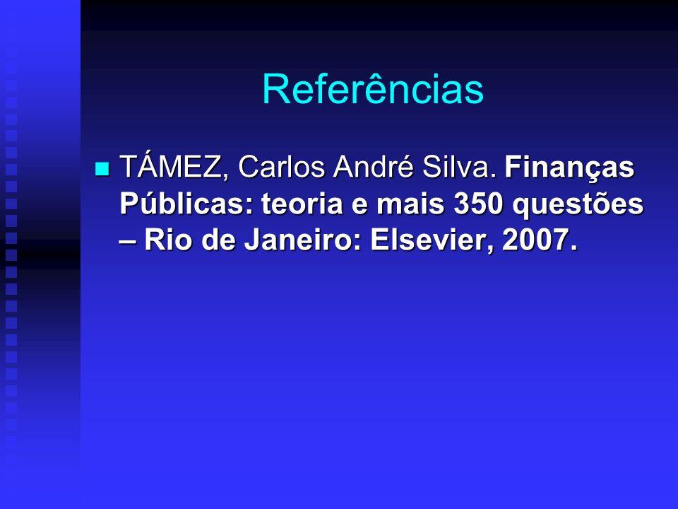 Referências TÁMEZ, Carlos André Silva.