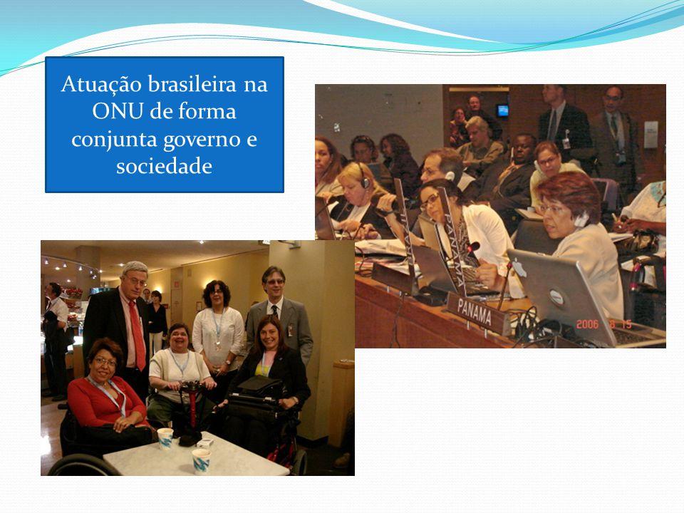 Atuação brasileira na ONU de forma conjunta governo e sociedade