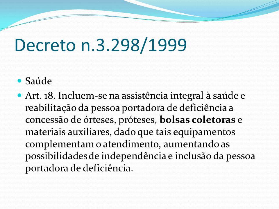 Decreto n.3.298/1999 Saúde.