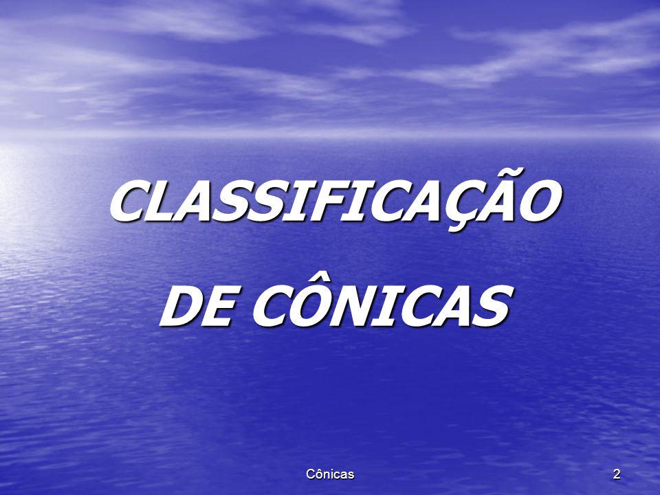 CLASSIFICAÇÃO DE CÔNICAS