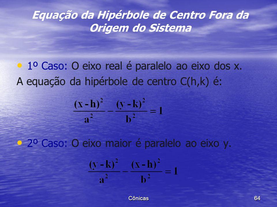 Equação da Hipérbole de Centro Fora da Origem do Sistema