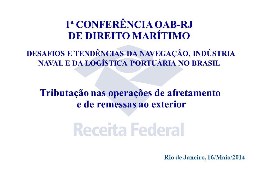 Tributação nas operações de afretamento e de remessas ao exterior