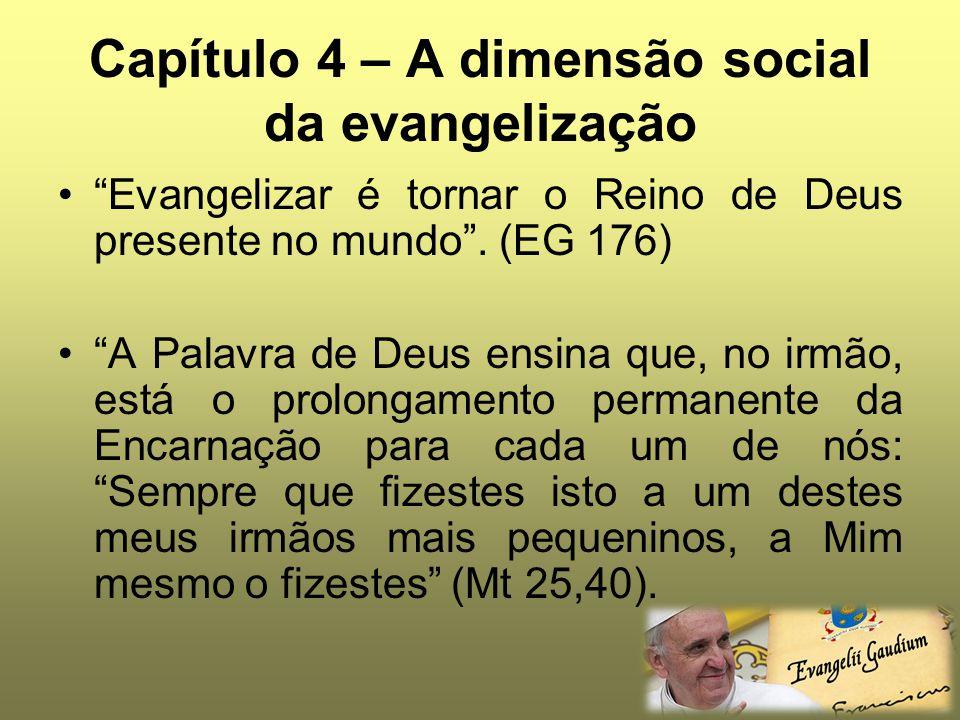Capítulo 4 – A dimensão social da evangelização