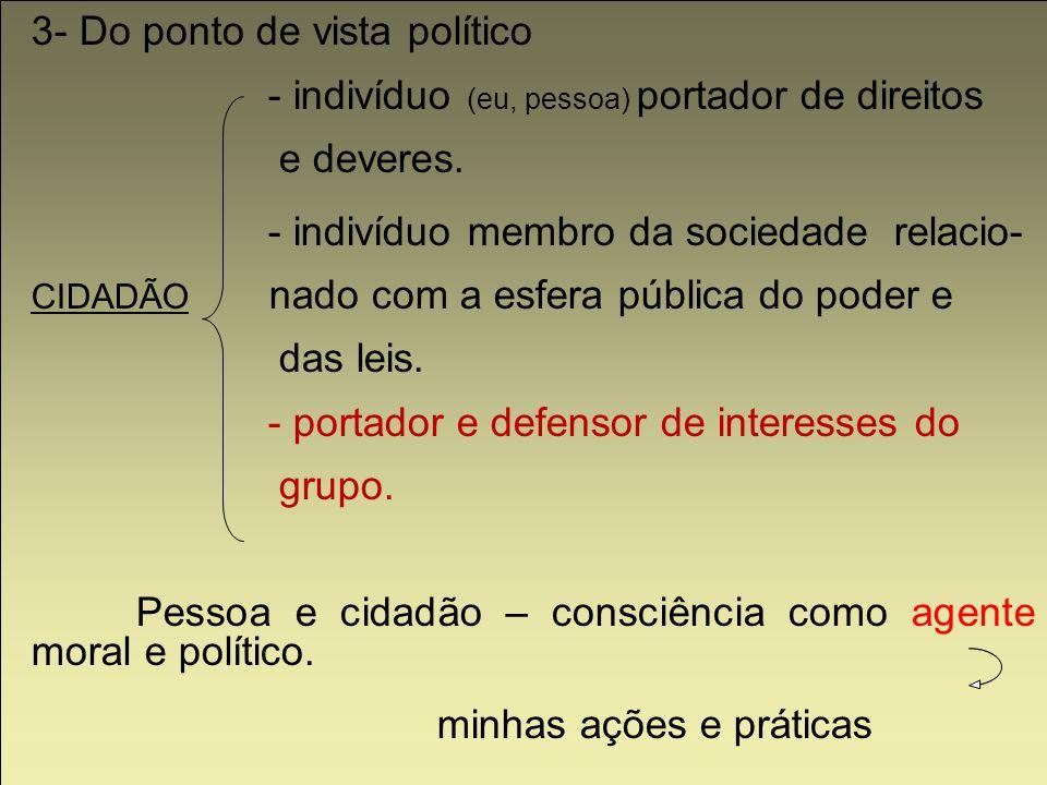 3- Do ponto de vista político
