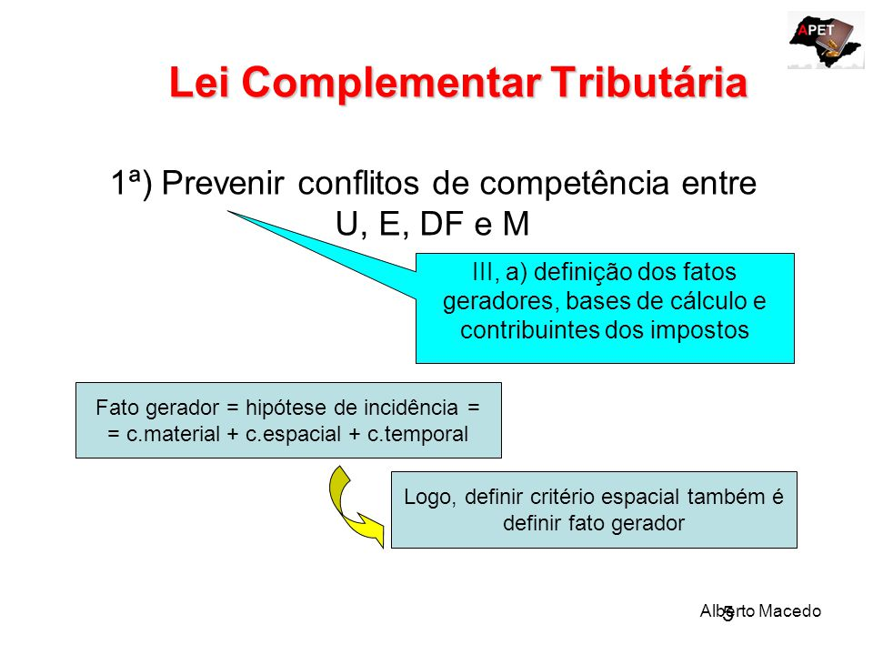 Lei Complementar Tributária