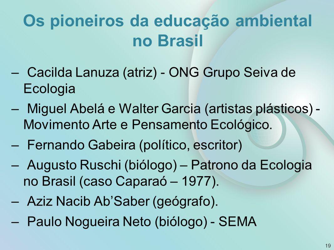 Os pioneiros da educação ambiental no Brasil