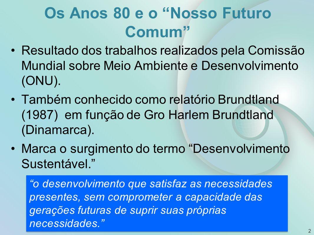Os Anos 80 e o Nosso Futuro Comum