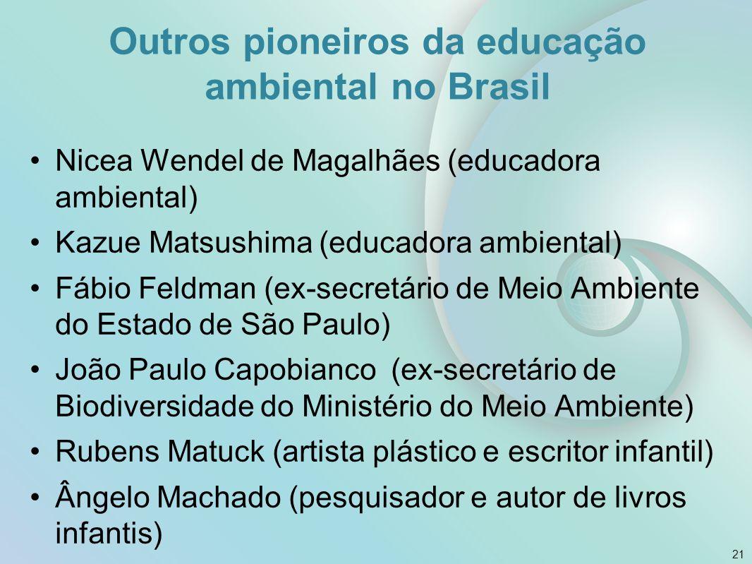 Outros pioneiros da educação ambiental no Brasil