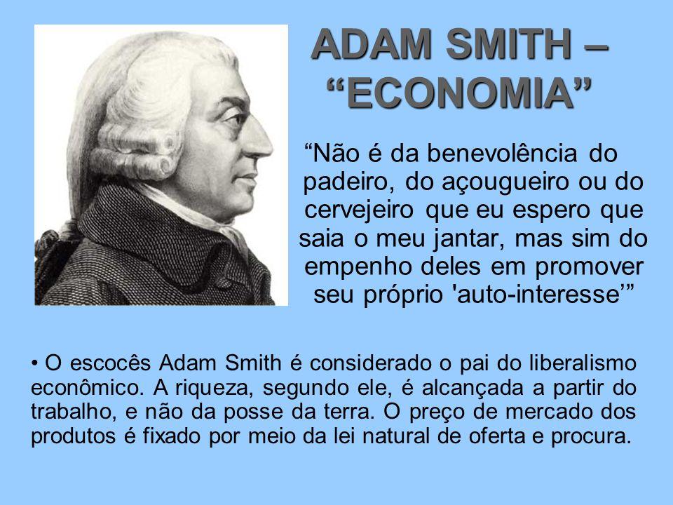 ADAM SMITH – ECONOMIA