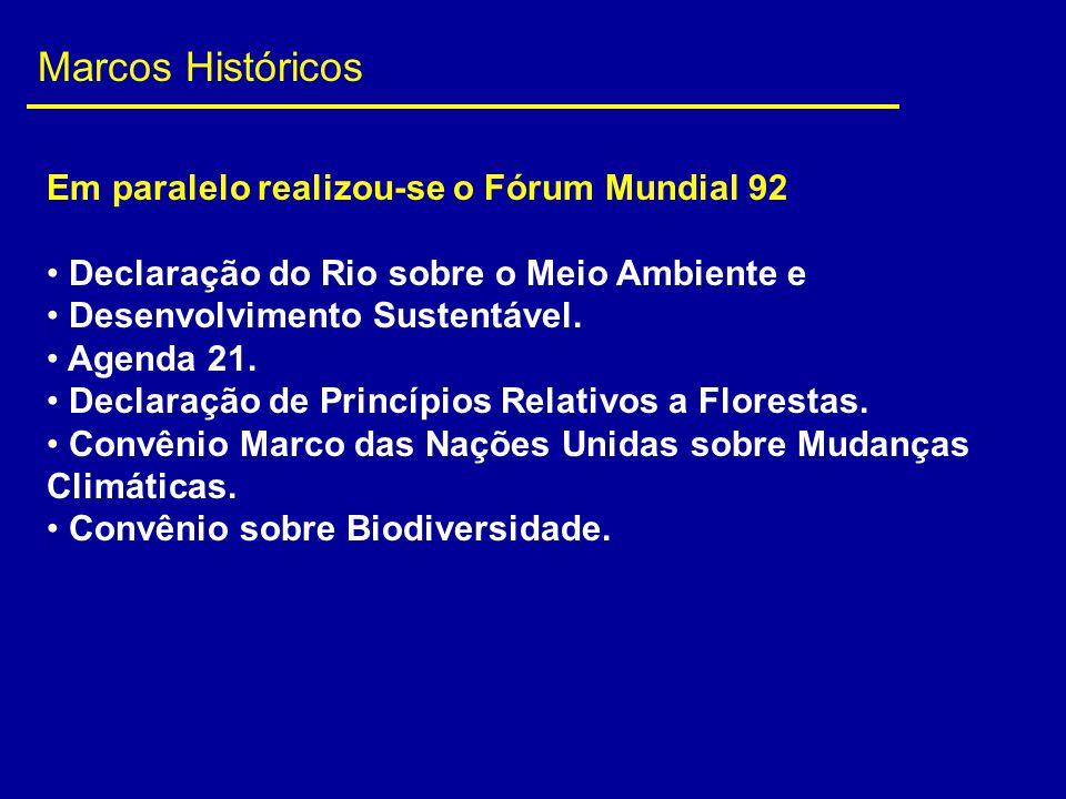 Marcos Históricos Em paralelo realizou-se o Fórum Mundial 92